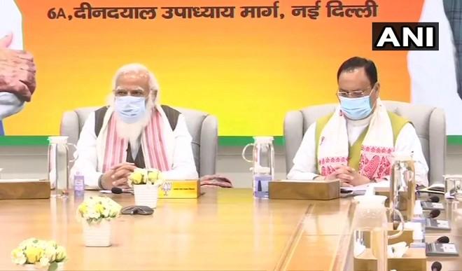 भाजपा मुख्यालय में केंद्रीय चुनाव समिति की बैठक, PM मोदी भी मौजूद, उम्मीदवारों के नाम पर लगेगी मुहर