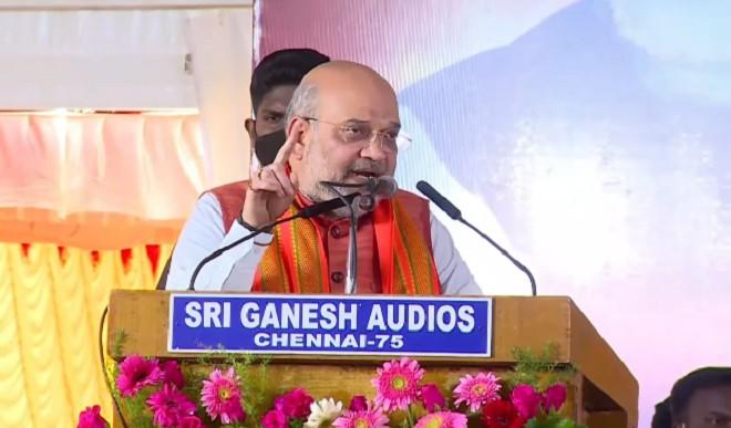 द्रमुक और कांग्रेस की भ्रष्टाचार और वंशवाद की राजनीति को खारिज करें: अमित शाह