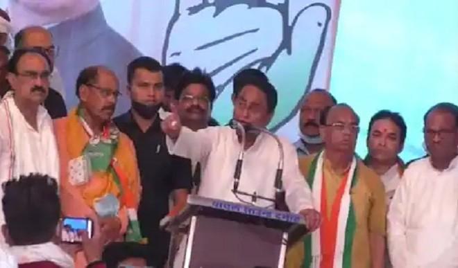 दमोह उप चुनाव सभा के दौरान कमलनाथ ने साधा भाजपा पर निशाना, कहा सच्चाई का साथ देना