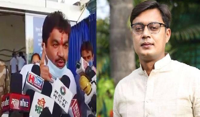 मंत्री के बेटे ने कांग्रेस विधायक को भेजा 5 करोड़ की मानहानि का नोटिस