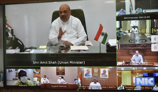 Cyclone Tauktae : गृह मंत्री अमित शाह ने चक्रवाती तूफान को लेकर सीएम-मंत्रियों के साथ की बैठक