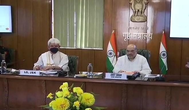 जम्मू-कश्मीर को लेकर अमित शाह की अगुवाई में अहम बैठक, उपराज्यपाल मनोज सिन्हा भी मौजूद