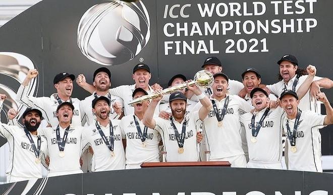 WTC Final: भारत से ऐतिहासिक जीत के बाद न्यूजीलैंड टीम ने जमकर जश्न मनाया