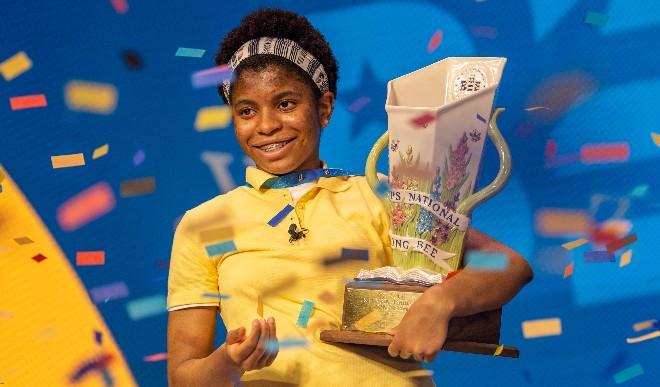 नेशनल स्पेलिंग बी प्रतियोगिता की विजेता बनी 14 साल की पहली अफ्रीकी-अमेरिकी