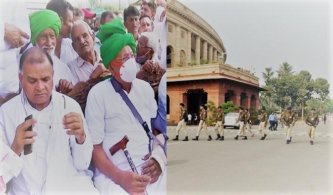 दिल्ली सरकार ने किसानों को दी जंतर-मंतर आने की छूट, संसद कूच के दावों के बीच सड़क से लेकर आसमान तक कड़ी सुरक्षा व्यवस्था