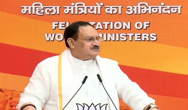 भाजपा ने महिला मंत्रियों का किया अभिनन्दन, जेपी नड्डा बोले- महिलाओं को ज्यादा मौके कोई और राजनीतिक दल नहीं देता