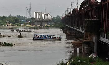 दिल्ली में यमुना नदी का जलस्तर बढ़ा