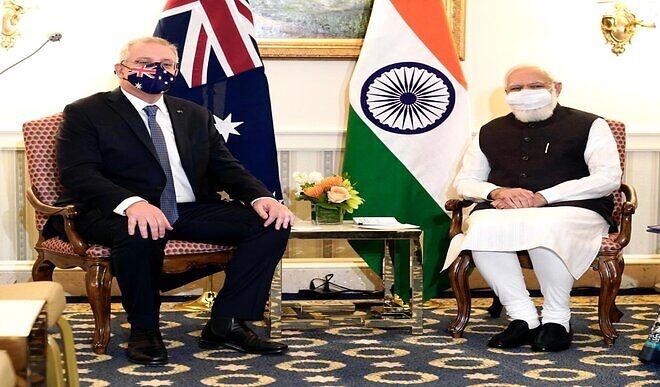 PM मोदी ने ऑस्ट्रेलियाई प्रधानमंत्री से की मुलाकात, कोरोना समेत इन मुद्दों पर हुई चर्चा