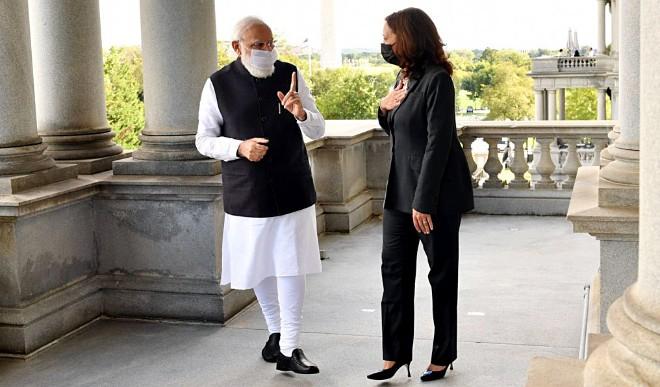 प्रधानमंत्री मोदी ने अमेरिका की उपराष्ट्रपति कमला हैरिस से मुलाकात की