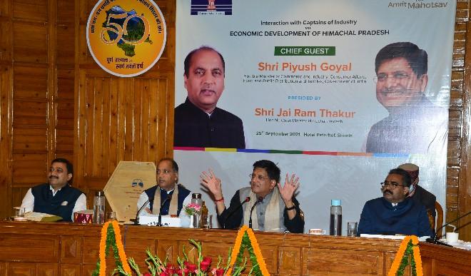 केन्द्रीय मंत्री ने हिमाचल को निवेश के लिए उत्कृष्ट केन्द्र विकसित करने पर राज्य सरकार के प्रयासों को सराहा